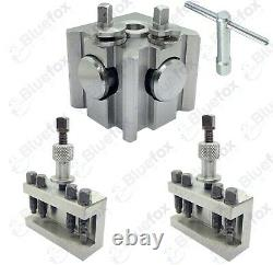 11 Pcs Quick change Tool Post System (T63 Suit Most Lathes) 25mm Opening
