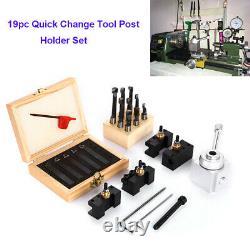 19pc Quick Change Tool Holder Set Mini Post Bar Boring Lathe Holder Turning CNC