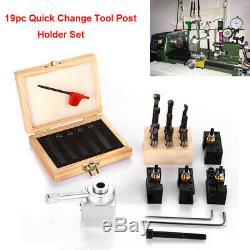 19pcs Quick Change Tool Mini Post Set Holder CNC Lathe Turning Bar Holder Boring