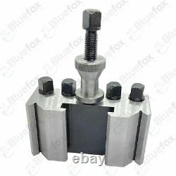 2 x Lathe Quick Change Tool post T2 HOLDER ONLY 95 x 40 x 50mm suit 26mm Tools