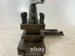20mm Lathe Sliding Rail Toolpost with 4 way Quick Change Tool Post Holder