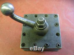 3-1/2 Square 4 Way Tool Post for Small Engine Lathe Clausing Harrison SouthBend