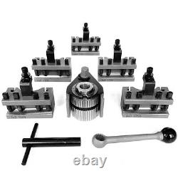 40 Position Quick Change Tool Post for Swing 120-220mm Lathe With 5PCS Holder