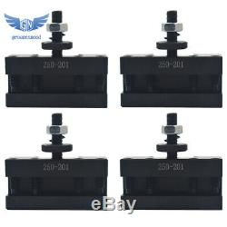4Pcs BXA #1 Quick Change Turning & Facing Lathe Tool Post Holder 250-201