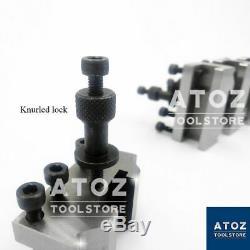 5 Pieces Set T37 Quick Change Toolpost 10mm Stud Bore Lathe Premium Tool post