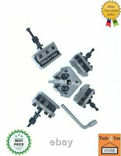 5 pcs Quick Change Tool Post Set T37 suitable for MyFord Lathes with Wooden Box