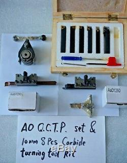 A0 Multifix Quick Change Tool Post Kit For 120-220mm Swing Lathe 4.7 to 8.7