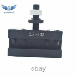 AXA 250-111 Set Wedge Type Quick Change Tool Post Set for Lathe 6- 12