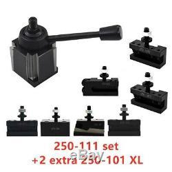 AXA 250-111 Wedge Tool Post Holder Set for Lathe 6 12 Plus 2 Extra 250-101 XL