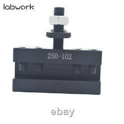 AXA Size 250-100 Set Piston Type Quick Change Tool Post Set for Lathe 6- 12