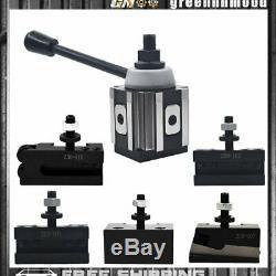 AXA Size 250-100 Set Piston Type Quick Change Tool Post Set for Lathe 6- 12 New