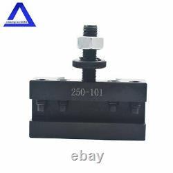 AXA Size 250-111 Set Wedge Type Quick Change Tool Post Set for Lathe 6- 12