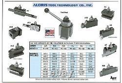 Aloris AXA Quick Change Lathe Tool Post +10 Holder Set #1-AS