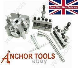 Anchor Tools T2 Quick Change Tool Post Set 2 Holders Dixon Type Lathe 26mm