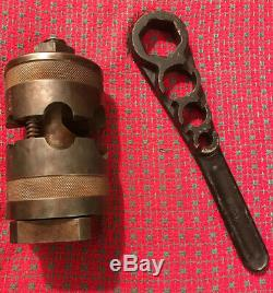 Armstrong Boring Bar Tool Post With Wrench. Southbend, Lathe. 2B Vintage USA
