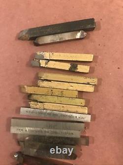 Atlas Craftsman 10 12 Metal Lathe Tool Post Holder w Cutting Tools Bits