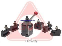 BOSTAR BXA 250-222 Wedge Type Tool Post Holder Set Lathe 10-15