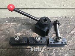 Dorian Tool Post & 3 Holders SD30BXA Quick Change Slide Lathe Tool