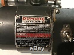 Dumore 11011 11-011 Lathe Tool Post Grinder Tested Runs Great. 1/5HP Free Ship