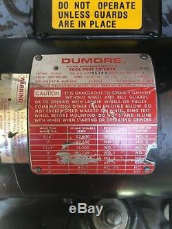 Dumore 57-022 3/4 HP Tool Post Grinder Lathe Tool, 220/380-460, 3 Phase, Withcase