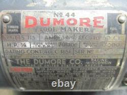 Dumore No. 44 Lathe Tool Post Grinder OD ID 1/4 HP 6,600 38,500 RPM Spindle