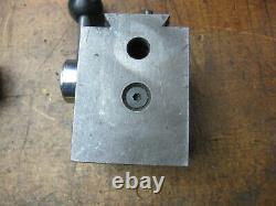 KDK-100 series Quick Change lathe tool post with 2 holders (1 holder damaged)