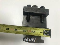 LATHE TOOL POST with large Tool holder opening up to 1 3/4 inch tool NOS