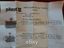 Mini 5 8 lathe NEW Phase 2 II Quick Change Tool Post Block Set ATLAS aloris
