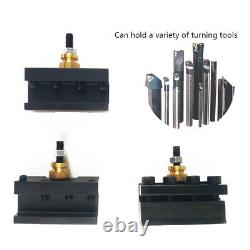 Mini CNC Quick Change Tool Post Holder Mount Alloy Kit For Table/Hobby Lathe