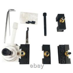 Mini Lathe Quick Change Tool Post & Holder Mount Kit 3/8 1/2 For Table / Hobby