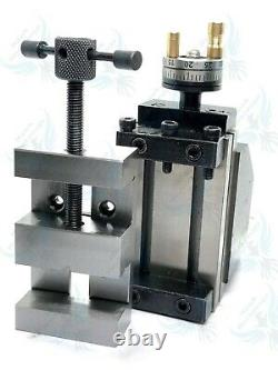 Mini Vertical Slide with 2/50mm Steel Vice-Instant Milling Toolpost On Lathe