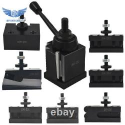 New BXA 250-222 Wedge Type Tool Post for Lathe 10 15 with 7PC Tool Holders