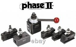 Phase II Tool Post Set 5 Holders Piston BXA 10 To 15 Lathe Swing