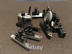 Prototyping set of tooling. Tool post, holders, Gage and cutters for Levin lathe