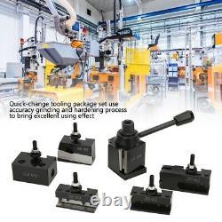 Quick-Change Tool Post Set Wedge Type #45Steel Mini Lathe Accessories 250-000