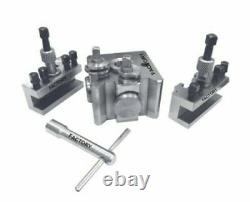 Quick Change Toolpost T51 For BOXFORD LATHES fits aud. Bud, and cud models 3 Pcs