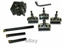 Rdg Quick Change Tool Post For Mini Lathe With Indexable Turning + Boring Tools