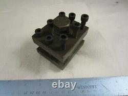 South Bend 9 10K Lathe Square 3 Way Tool Post Holder 3/4 Opening 2 1/2 x 3