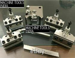 T-37 Quick Change Tool Post For Lathe 5 Pieces Set Alloy Steel High Quality T37