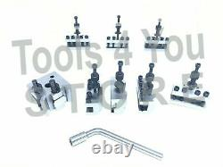 T-37 Quick Change Tool Post For Lathe 8 Pieces Set Alloy Steel High Quality T37