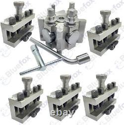 T2 Quick Change Tool Post Set 5 Holders Dixon Type Lathe 26mm
