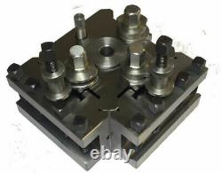 T3 quick change toolpost set block and holders for colchester harrison lathes