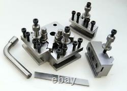 T37 QUICK CHANGE TOOLPOST SET WithH 4 HOLDERS-MYFORD & LATHE 90-115MM CENTER HEIGH