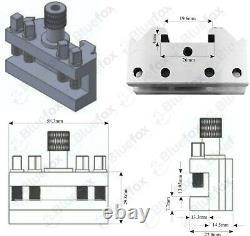T37 Quick Change Tool Post Holder 12mm Fits Myford Super 7 Lathe Quickchange