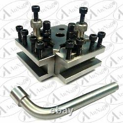 T37 Quick Change Toolpost 5 Pieces Set Myford & Lathe 90-115 mm Center Height