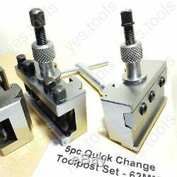 T63 QuickChange ToolPost Set Colchester Bantam Boring Vee Parting Lathe Anchor