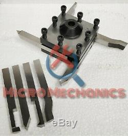 Tool Post Holder For Myford Lathes 7/16 Bore + 1/4 HSS Form Tools Set Of 8 Pcs