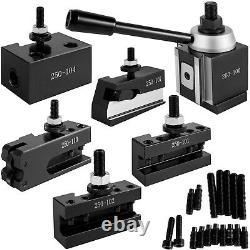 VEVOR 250-100 Piston Tool Post for Lathe Swing 11.81/300 mm 6PC Tool Holders