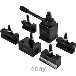 VEVOR Lathe Tool Holder Quick Change Tool Post Set for Mini Lathe 250-111 Post