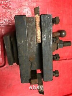 Vintage Lathe Tool Holder ENCO Turret Quick Change 4 1/2 x 4 1/2 Post South Bend